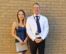 Ami with Principal Mr Ceri Evans