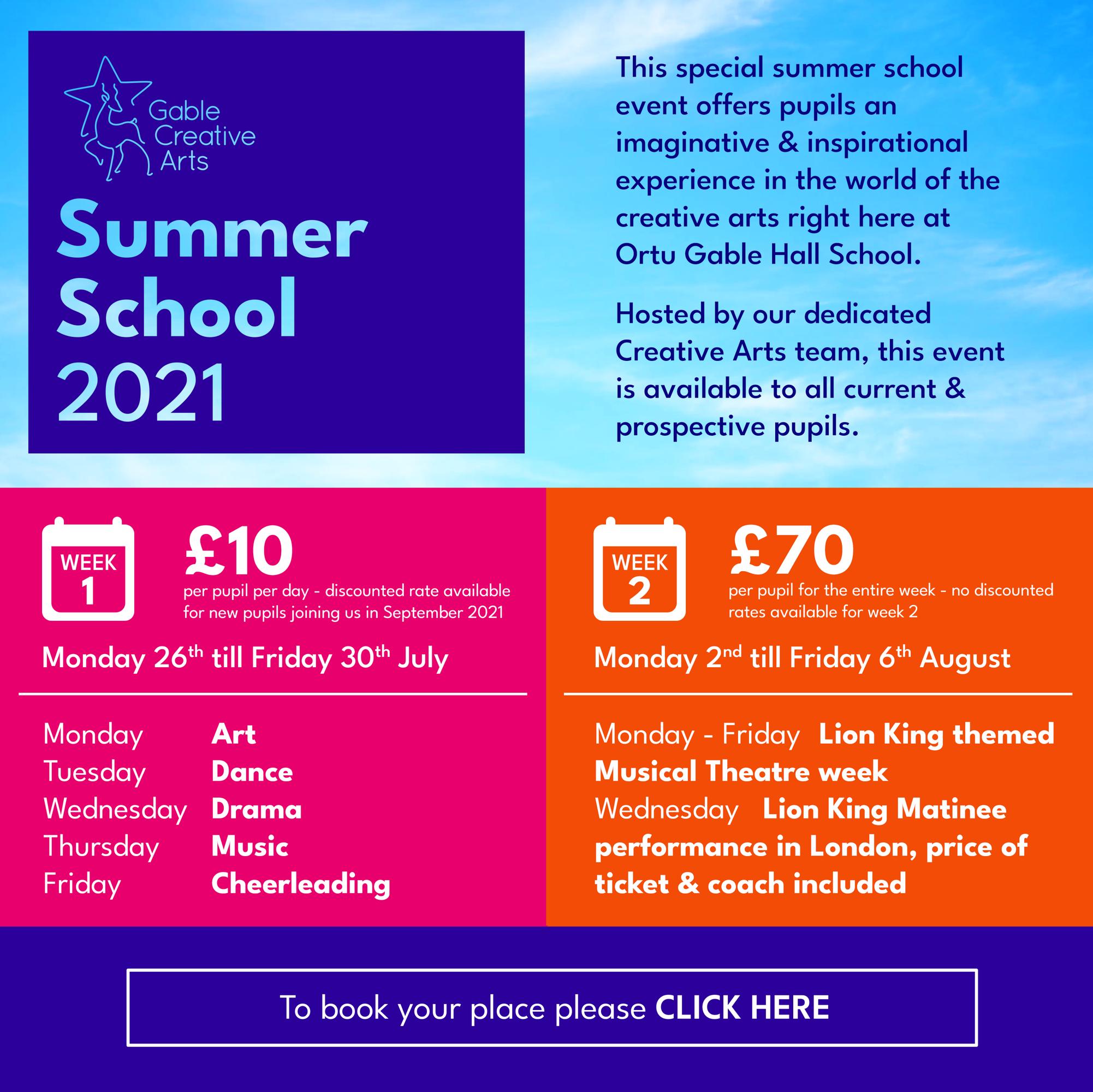 Creative Arts Summer School 1