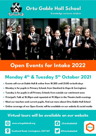 Ortu GHS Open Evening Advert 2021 2022   Essential Schools Guide